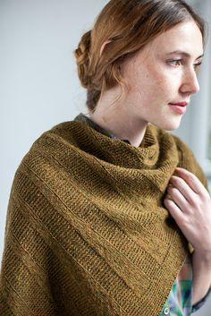 Thorn Shawl from Brooklyn Tweed  knitting