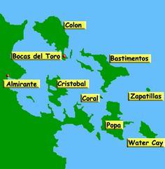 Bocas del Toro Island Map