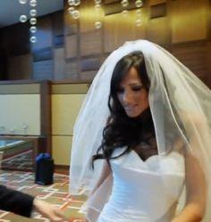 Wedding long hair style