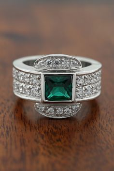 Add some color to your summer wardrobe with the Emerald, Princess cut Always ring!