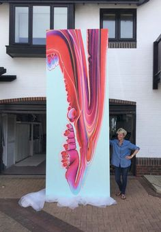 Timmy Green artwork 6th September 2016 This enormous 4m x 1.5m commissioned artwork can be seen at Timmy Green Restaurant, Nova Victoria, London