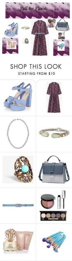 """""""Floral Style"""" by rebeccadavisblogger on Polyvore featuring Konstantino, Express, Miu Miu, Bobbi Brown Cosmetics and Vince Camuto"""
