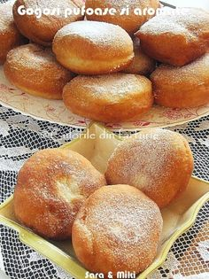 » Gogosi pufoase si aromateCulorile din Farfurie Sweets Recipes, Baking Recipes, Cake Recipes, Beignets, Pudding Cookies, Romanian Food, Romanian Recipes, Bread Cake, Pastry Cake