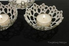 Crochet candle holder