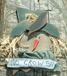 """No Crows"" - Free Fall Scarecrow Pattern"