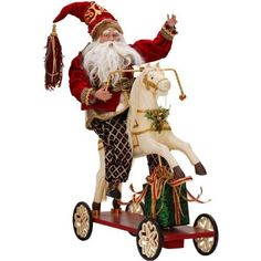 Mark Roberts Christmas Rocking Horse Santa