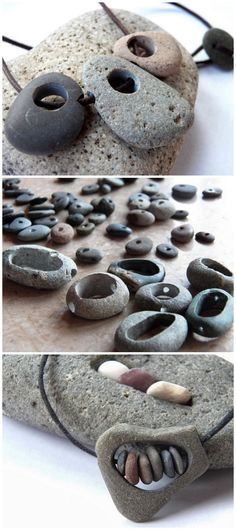 DIY Rock JewelryLive in Art has a series of tutorials on how to make drilled hole and hollowed out stone jewelry.DIY Rock JewelryLive in Kunst hat eine Reihe von Tutorials … - Diy SelbermachenNeed Help Choosing The Right Jewelry? Diy Jewelry Rings, Diy Jewelry Tutorials, Rock Jewelry, Diy Jewelry Making, Stone Jewelry, Jewelry Crafts, Beaded Jewelry, Handmade Jewelry, Jewelry Sets