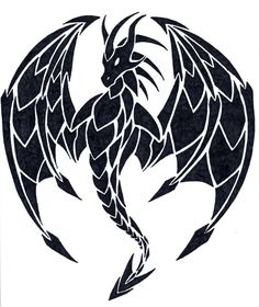 Wing Spread Dragon by PaleDreams Celtic Dragon, Celtic Art, Fantasy Dragon, Dragon Art, Stencil Art, Stencils, Dragon's Lair, Dragon Pictures, Dragon Tattoo Designs