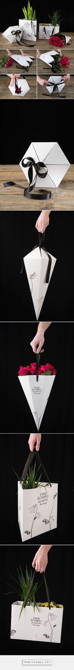 Flower packaging from http://www.packageinspiration.com/flower-packaging.html/