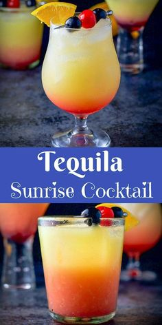 This refreshing and delicious tequila sunrise cocktail recipe is great for any g. - This refreshing and delicious tequila sunrise cocktail recipe is great for any g. Cocktail Tequila Sunrise, Cointreau Cocktail, Sunrise Drink, Tequilla Sunrise, Tequila Mixed Drinks, Easy Mixed Drinks, Patron Mixed Drinks, Drinks With Malibu Rum, Drinks Made With Tequila