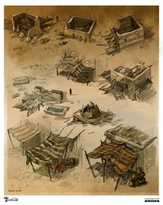 game concept art by ~sabin-boykinov on deviantART structures within towns.  some could be buildings or storage depending size and adding/subtracting features