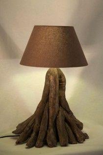 pollancre handmade driftwood lamp  natural design