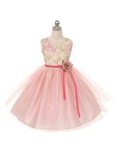 a9c1750fd8b Girl s floral tulle dress - bowbowtique. Tulle Flower GirlPink TulleWedding Flower  Girl DressesKids Formal WearDusty ...