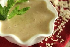 After searching high and low in my town for a jar of tahini, I couldnt find any! I went searching online and found this easy recipe. This is MUCH cheaper to make yourself, and only takes a couple minutes.