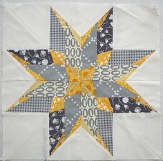 Paper-pieced star for Kati