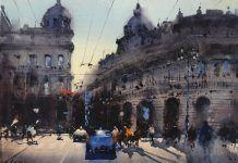 Álvaro Castagnet - Capital  #alvarocastagnet #acuarela #watercolor #galeriadeartetrinotortosa #ventadearte