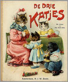 'De Drie Katjes - met Rijmpjes' by Alice Becht-Dentz, 1905