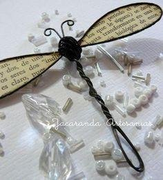 Dragonfly - Wire Work no tute Wire Crafts, Metal Crafts, Book Crafts, Arts And Crafts, Beads And Wire, Wire Art, Metal Art, Wire Jewelry, Wire Wrapping