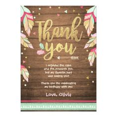 #pink - #Wild One birthday Thank you card pink gold Girl