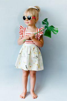 Toddler Pinafore Dress  Toddler Dress  Vintage Girls