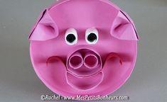 bricolage récup cochon en rouleau de sopalin ou papier WC