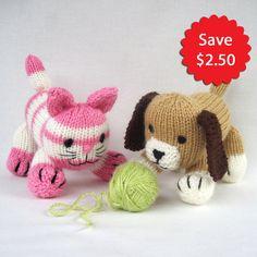 Cupcake et Muffin  ePattern deal  jouets tricotés chat par toyshelf