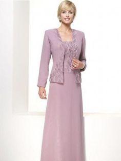 A-Line/Princess Strapless Floor-length Chiffon Satin Mother of the Bride Dress