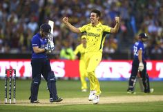 Mitchell Marsh broke the backbone of England's batting line-up and picked up a five-wicket haul in his World Cup match. He sent back Gary Ballance, Ian Bell, Joe Root, Morgan and Jos Buttler