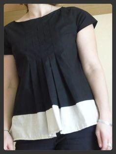Stylish Dress Book 1, Wear with Freedom (Yoshiko Tsukiori), Style E, tunic-length, under tunic, border