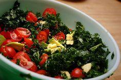 Raw Kale Avocado Salad | Happy Foody