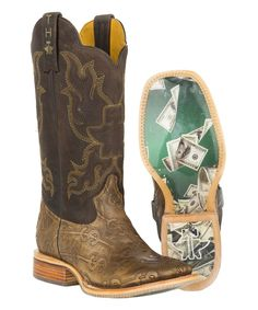 Tan Make It Rain Leather Western Boot - Men