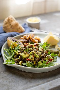 Try subbing your meat for a lentil and avocado salad. It's hearty, creamy and will leave you feeling satisfied.