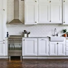 Wood Herringbone Floor - Transitional - kitchen - Designer Friend