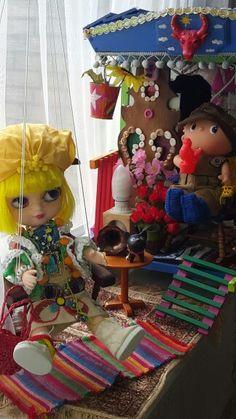 My gypsies Blythe caravan handmade