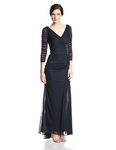 Adrianna Papell Women's Draped Covered Gown