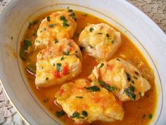 Thumbnail of Gold with Coconut Sauce Fish Recipes, Seafood Recipes, Cooking Recipes, Healthy Recipes, I Love Food, Good Food, Portuguese Recipes, Fish Dishes, Fish And Seafood