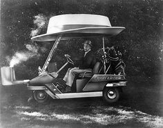 Bing Crosby and customized Golf Cart www.GolfSportMag.com