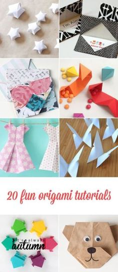 20 cool origami tutorials - great for adults or kids!