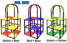 PoolDocks offers portable pool platforms which can be used to help teach children how to swim or by kids as a fun pool play platform.