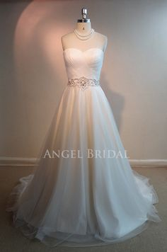 2013 New Arrival  A-Line Ivory  Tulle  Wedding dress, Wedding gown, wedding dresses, wedding gowns,Bridal gown on Etsy, $180.00