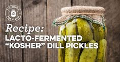"Lacto-Fermented ""Kosher"" Dill Pickles"