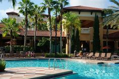 Floridays Resort in Orlando, Florida Hotel Review - the main pool is quite large and usually not busy during the day. It's one of 3 pools on property and is heated year round.