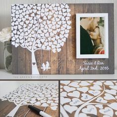Shop a selection of Guest Book Alternatives for weddings or other occasions.