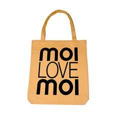 MOIMOI LOVE tote bag in peach