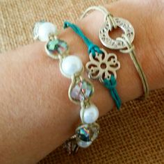Check out this item in my Etsy shop https://www.etsy.com/listing/231396223/set-of-3-bracelets