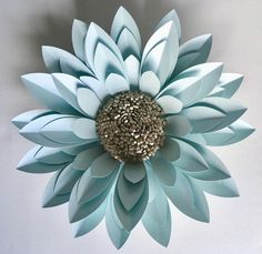 Strikingly beautiful flower, an on trend piece of paper sculpture, a beautiful piece of unique art for your home.  This flower style can be incorporated into a backdrop for a special event or photography background.  The flowers are made to order from quality pearlescent card and paper, I only use