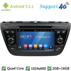 Quad Core 1024*600 WIFI  Android 5.1.1 Car Player Radio Stereo BT FM DAB+ 3G/4G GPS Map For Suzuki SX4 S-Cross 2014-2017