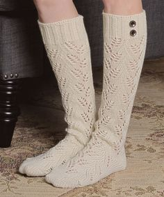 Another great find on #zulily! Ivory Pointelle Knee-High Socks by Leto Collection #zulilyfinds