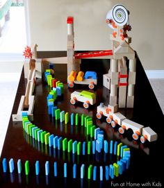 A review of HABA Technic Blocks, Building Blocks, Marble Run, and Optics (and a giveaway) from Fun at Home with Kids