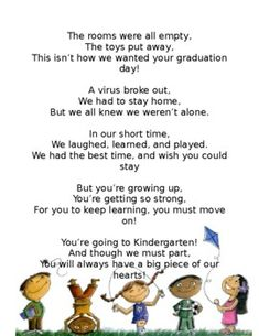 PRE-K Graduation poem by Angela Beard Kindergarten Graduation Poems, Pre School Graduation Ideas, Kindergarten Quotes, Graduation Words, Graduation Speech, Graduation Quotes, Preschool Kindergarten, Preschool Worksheets, School Ideas